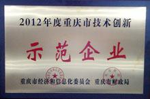 2012年度重庆市技术创新示范企业